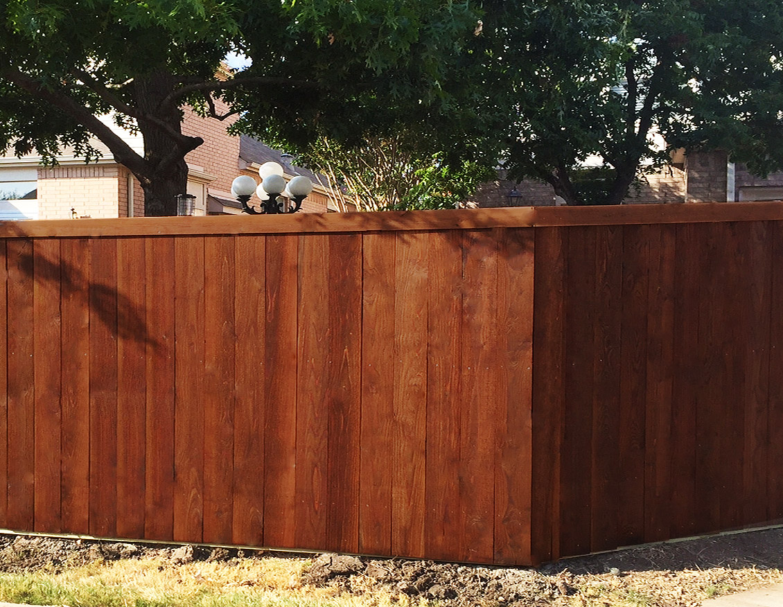 Tall Cedar Wood Fence