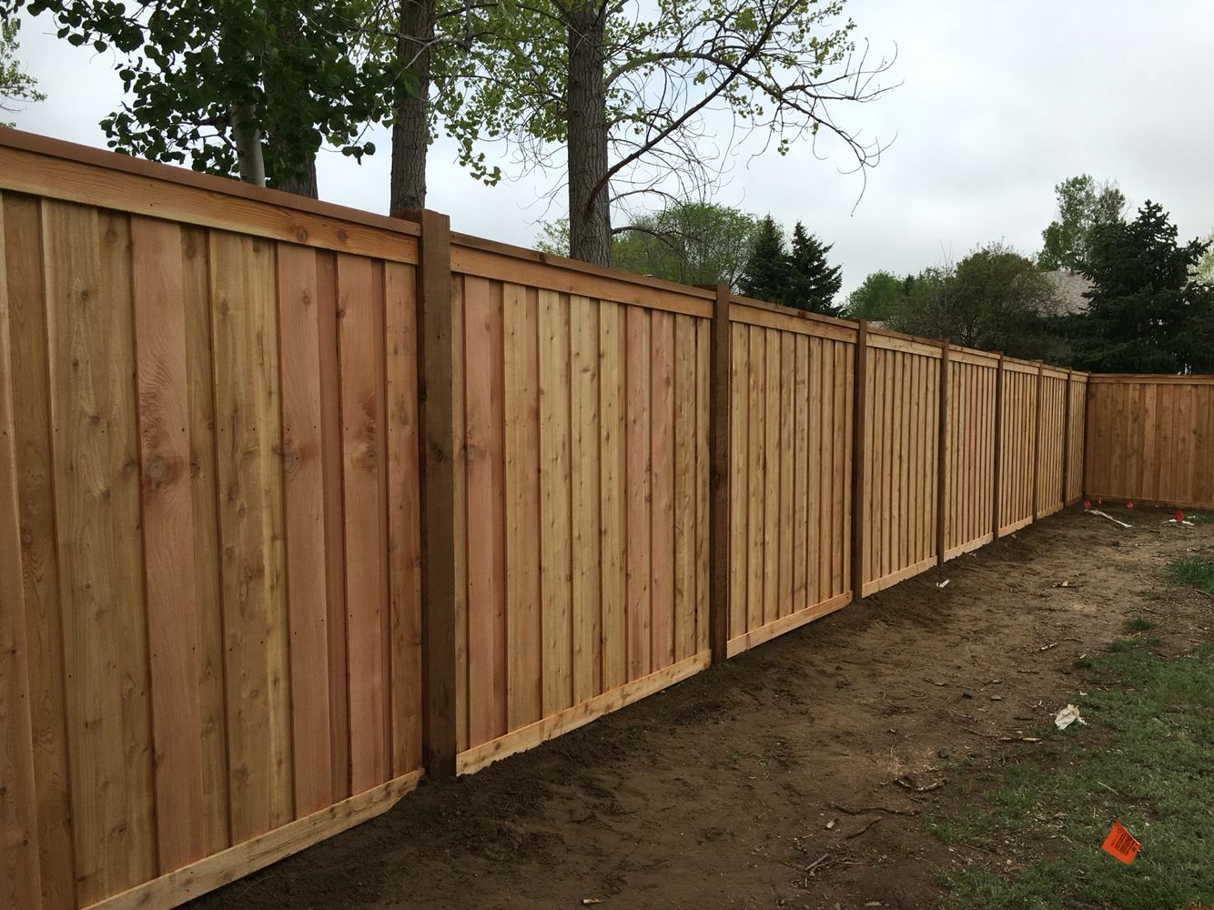 Picture of: Tall Wood Fence Cap
