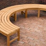 Teak Curved Wooden Bench