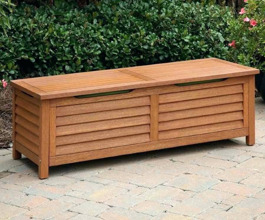 Picture of: Teak Wooden Bench with Storage