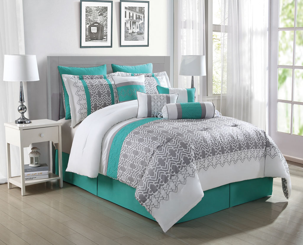 Picture of: Teal Bedding Sets Queen Color