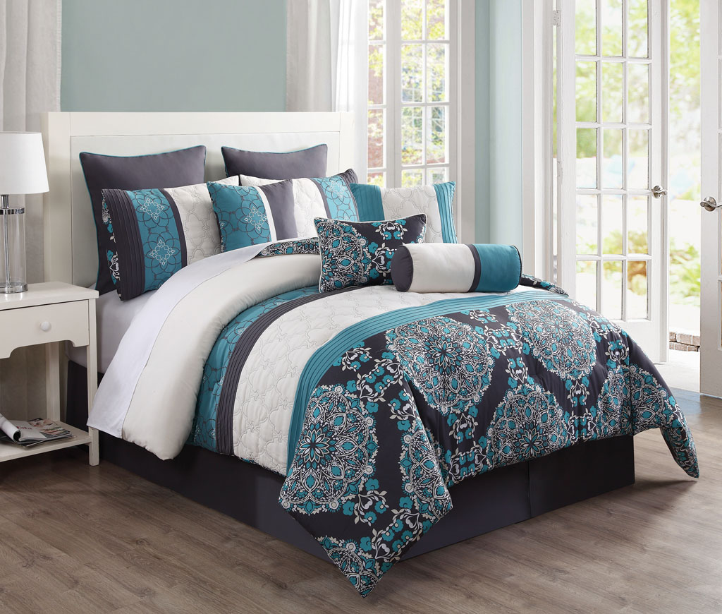 Picture of: Teal Bedding Sets Queen Combine