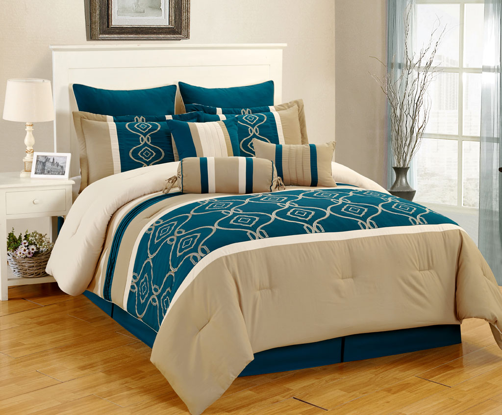 Picture of: Teal Bedding Sets Queen Size