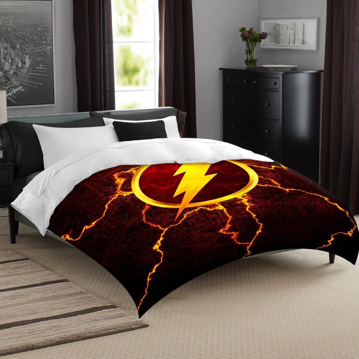 Image of: The Flash Bed Set Colors