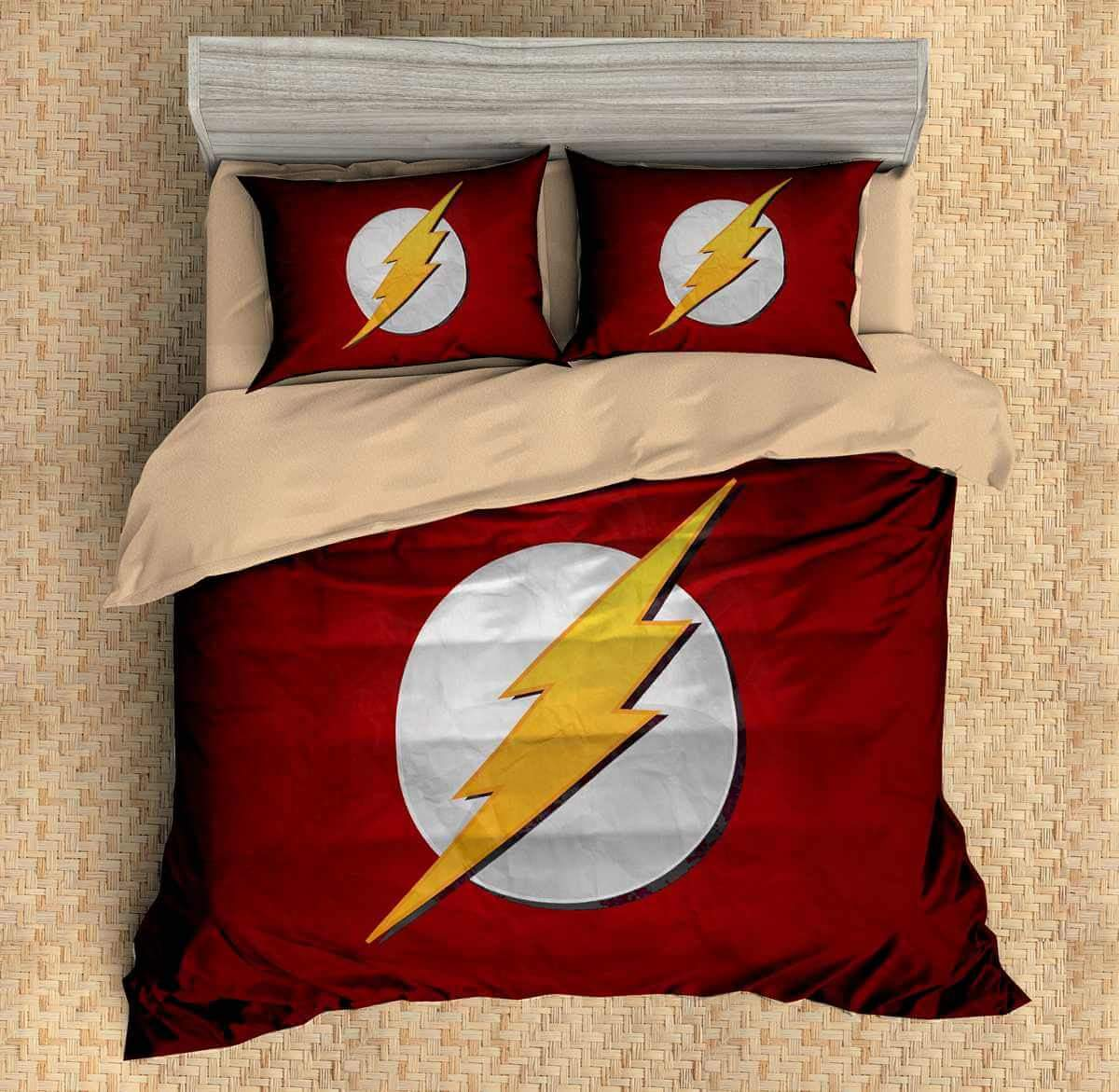 Image of: The Flash Bed Set Red