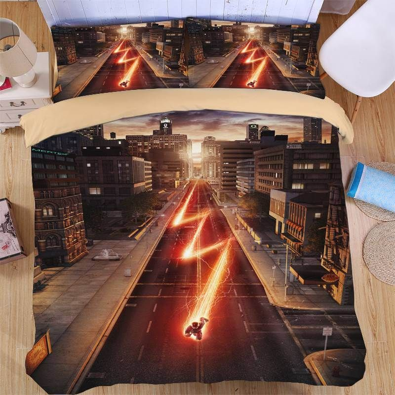 Image of: The Flash Bed Set Theme