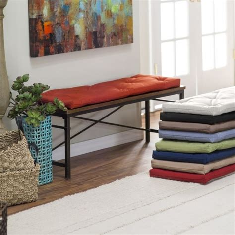 Picture of: Thin Indoor Bench Seat Cushions