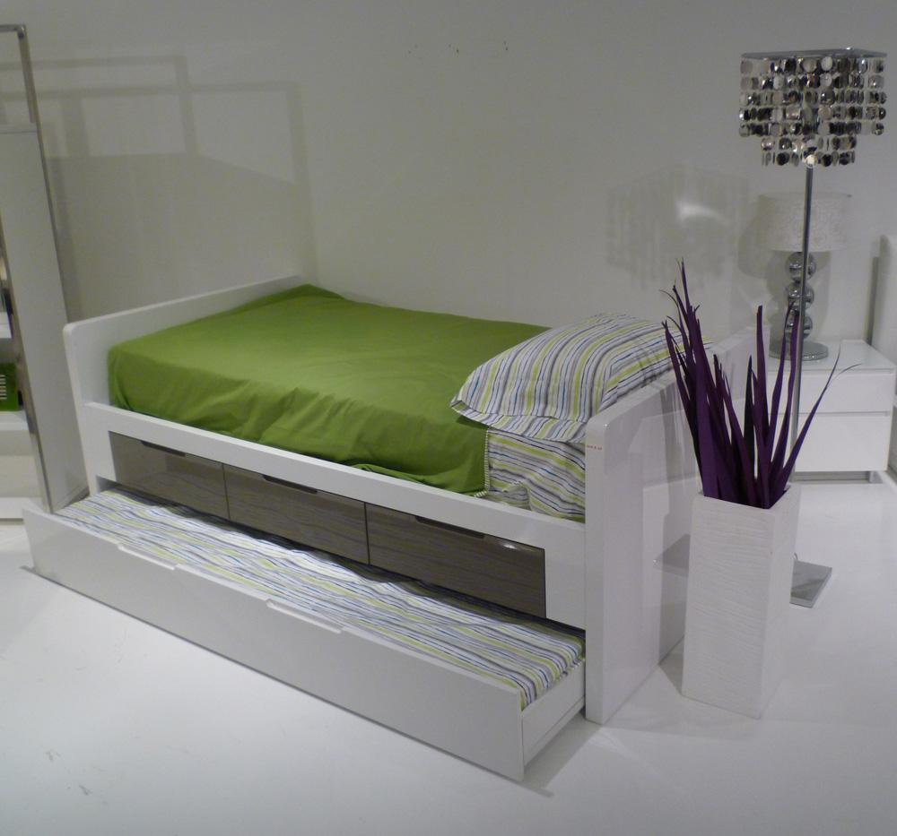Image of: Tidy Twin Trundle Bed with Storage
