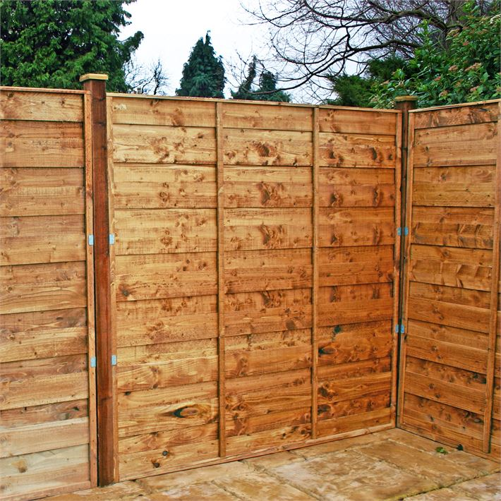 Picture of: Traditional Horizontal Fence Panels