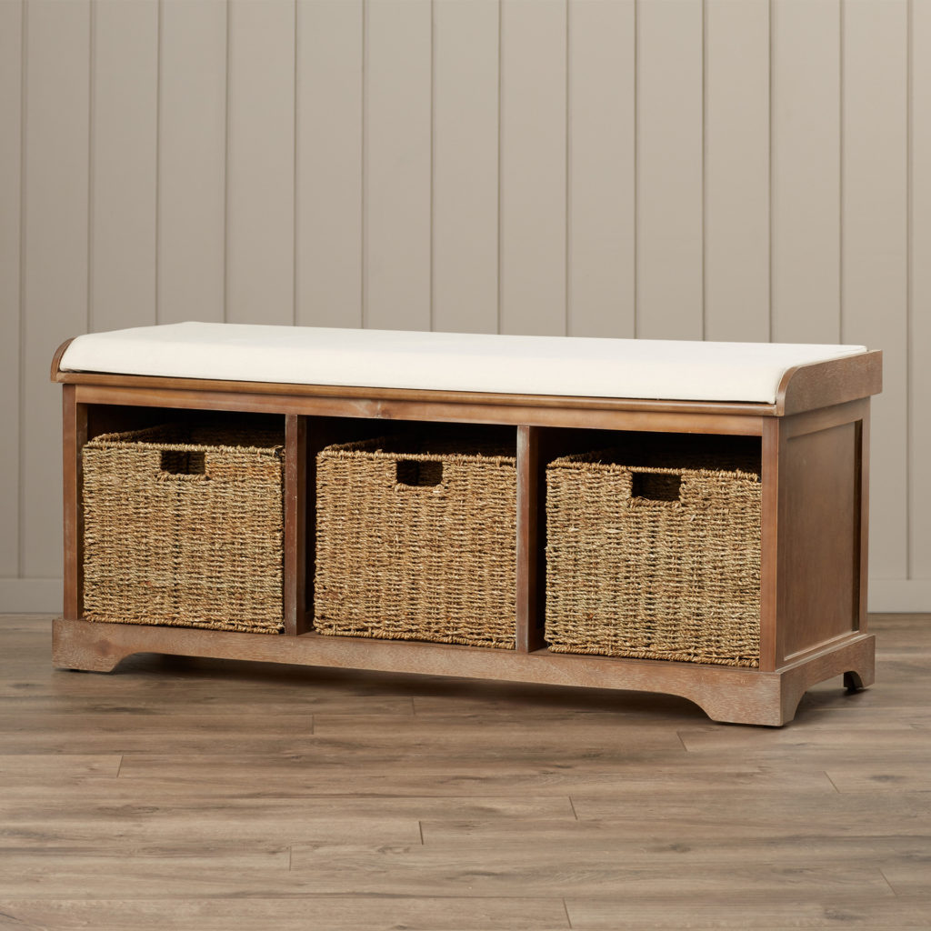 Picture of: Traditional Wooden Storage Bench