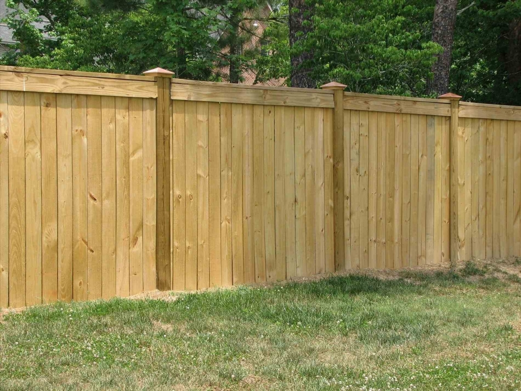 Picture of: Treated Wood Fence Designs