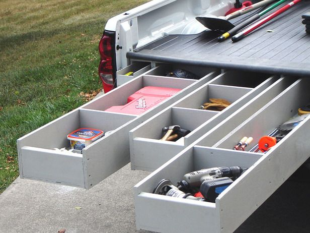 Image of: Truck Bed Storage Drawers Full