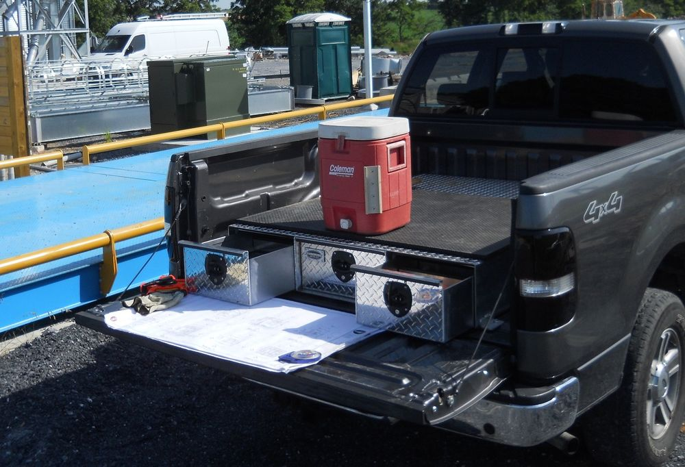 Image of: Truck Bed Storage Drawers Modification