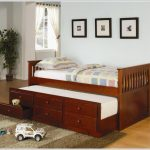 Twin Trundle Bed with Storage Beside Window