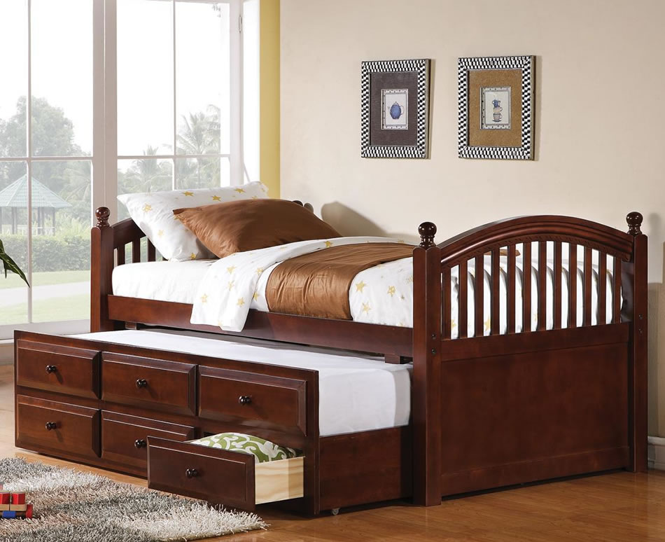 Image of: Twin Trundle Bed with Storage and Frame