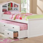 Twin Trundle Bed with Storage for Girl