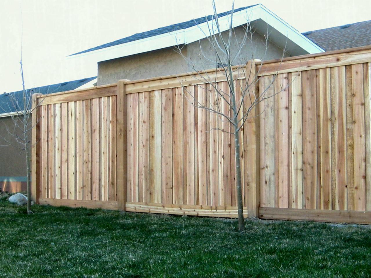 Picture of: Types of Wood Fences Plan