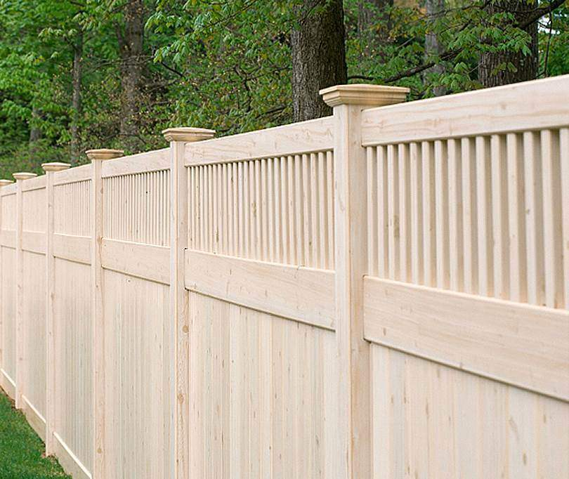 Unfinished Wood Fence Designs