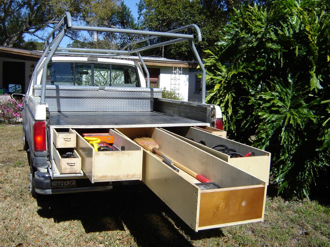 Image of: Unique Truck Bed Storage Drawers