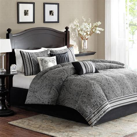 Image of: Unusual Grey Comforter Sets King