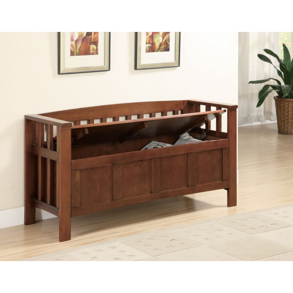 Picture of: Unusual Wooden Storage Bench