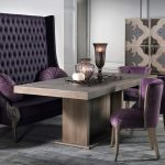 Upholstered Wooden Kitchen Table with Bench