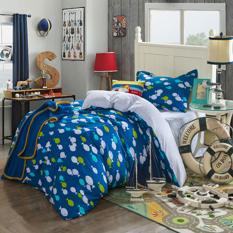 Unique Themed Fishing Comforter Set