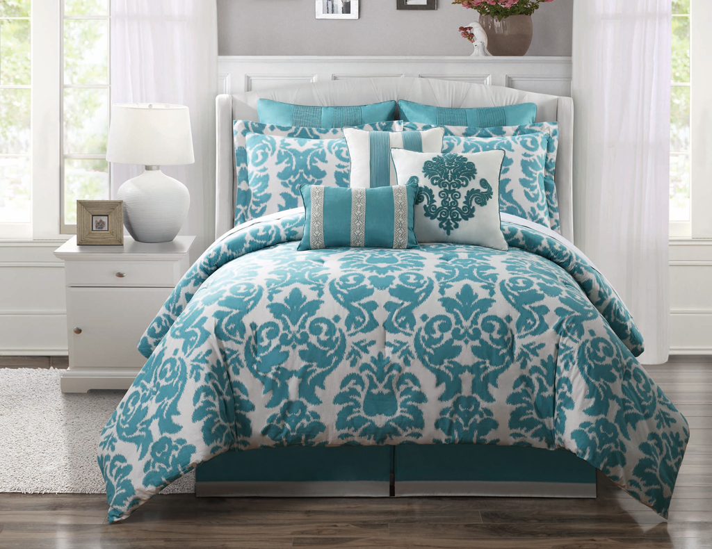 Picture of: Use Teal Bedding Sets Queen