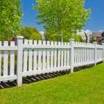 Vertical White Wood Fence