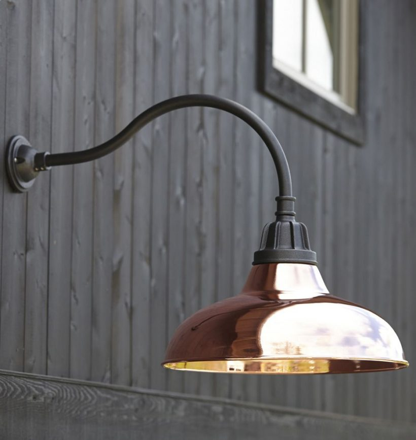 Vintage Outdoor Gooseneck Light Fixture