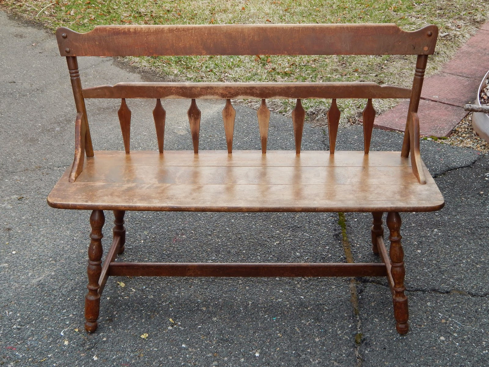 Image of: Vintage Wooden Bench Design