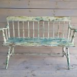 Vintage Wooden Bench Paint