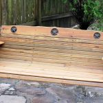 Vintage Wooden Bench Swing