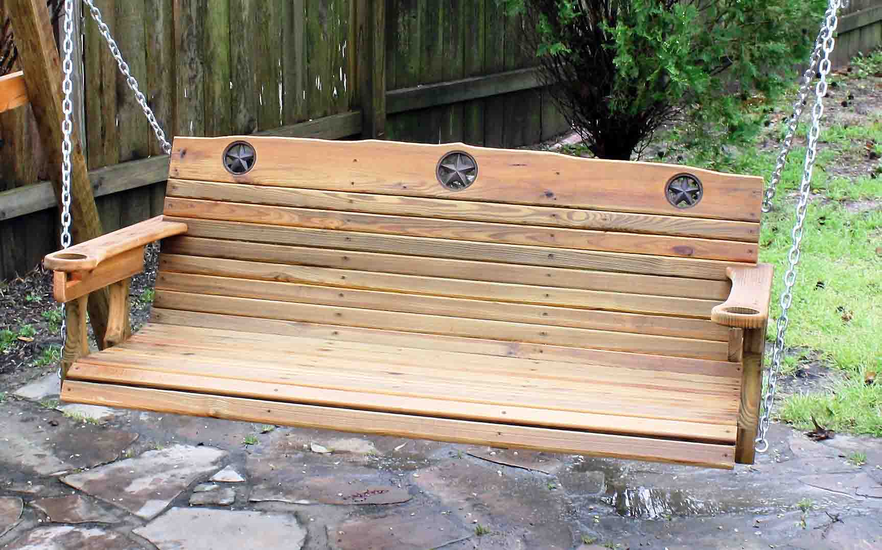 Picture of: Vintage Wooden Bench Swing