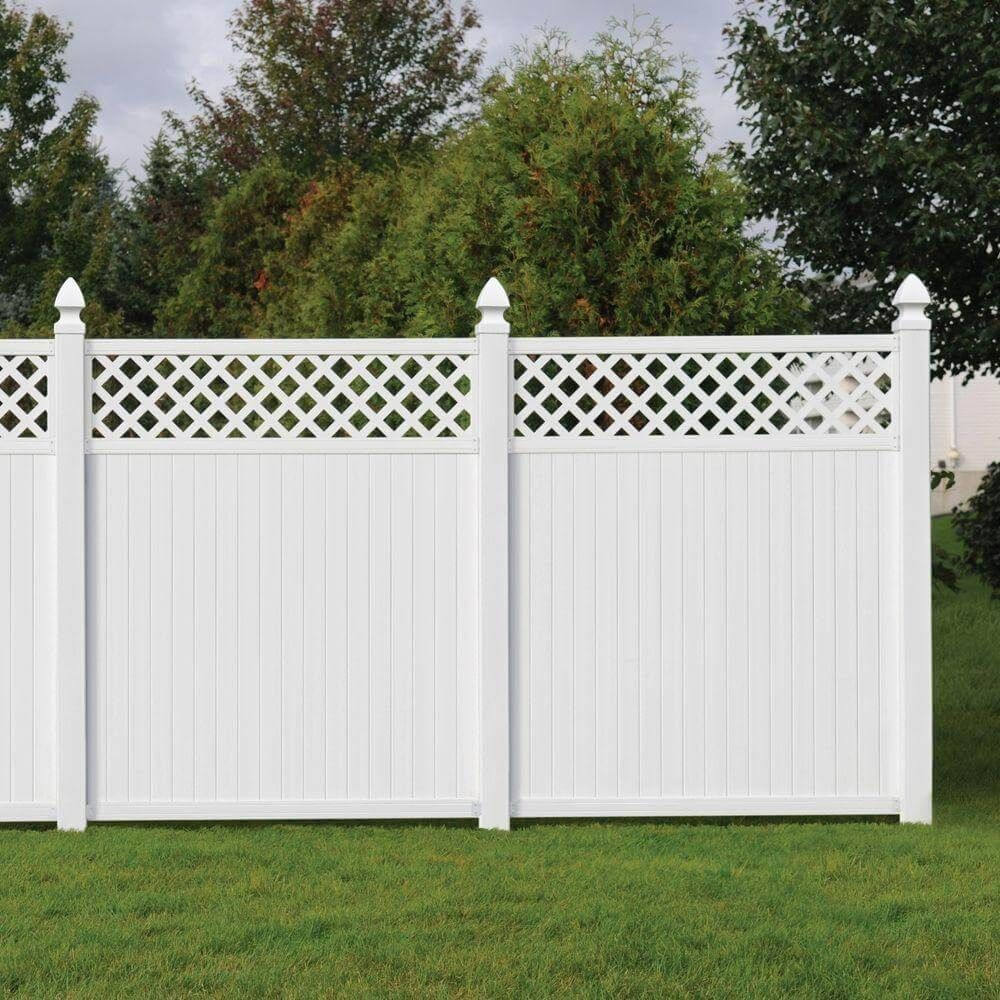 Picture of: Vinyl Wooden Fence Ideas