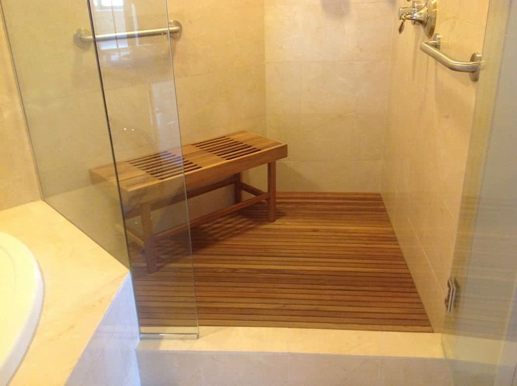 Walk In Wooden Shower Bench