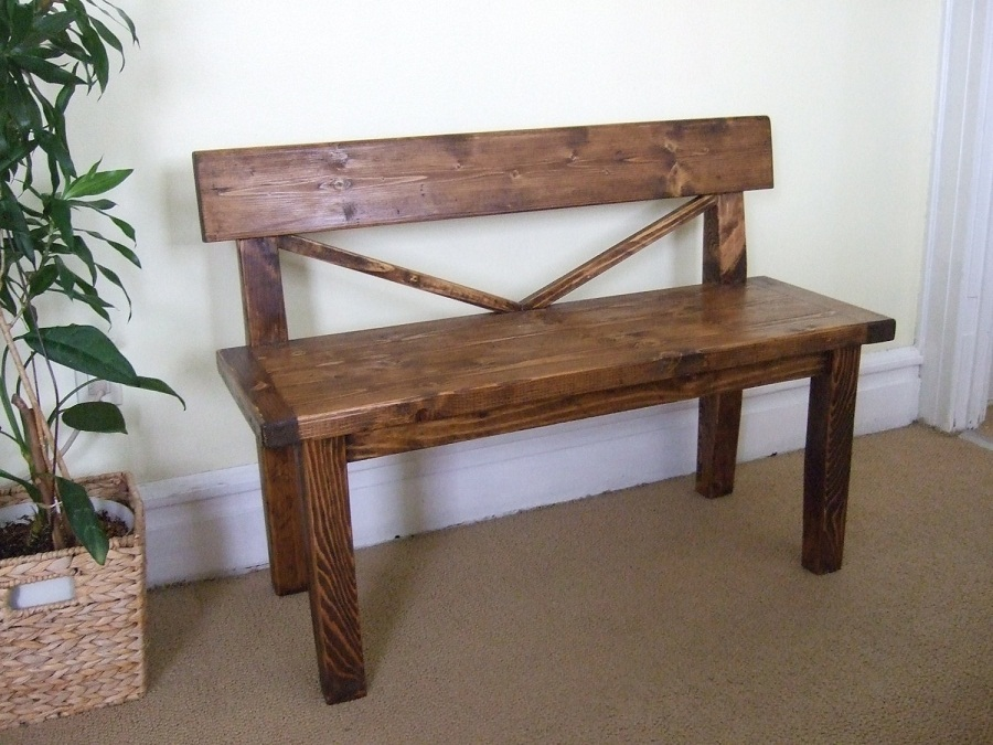 Image of: Walnut Indoor Wooden Benches