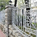 White Decorative Metal Fencing