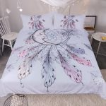 White Dreamcatcher Bedding Set