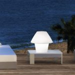 White Outdoor Solar Table Lamp