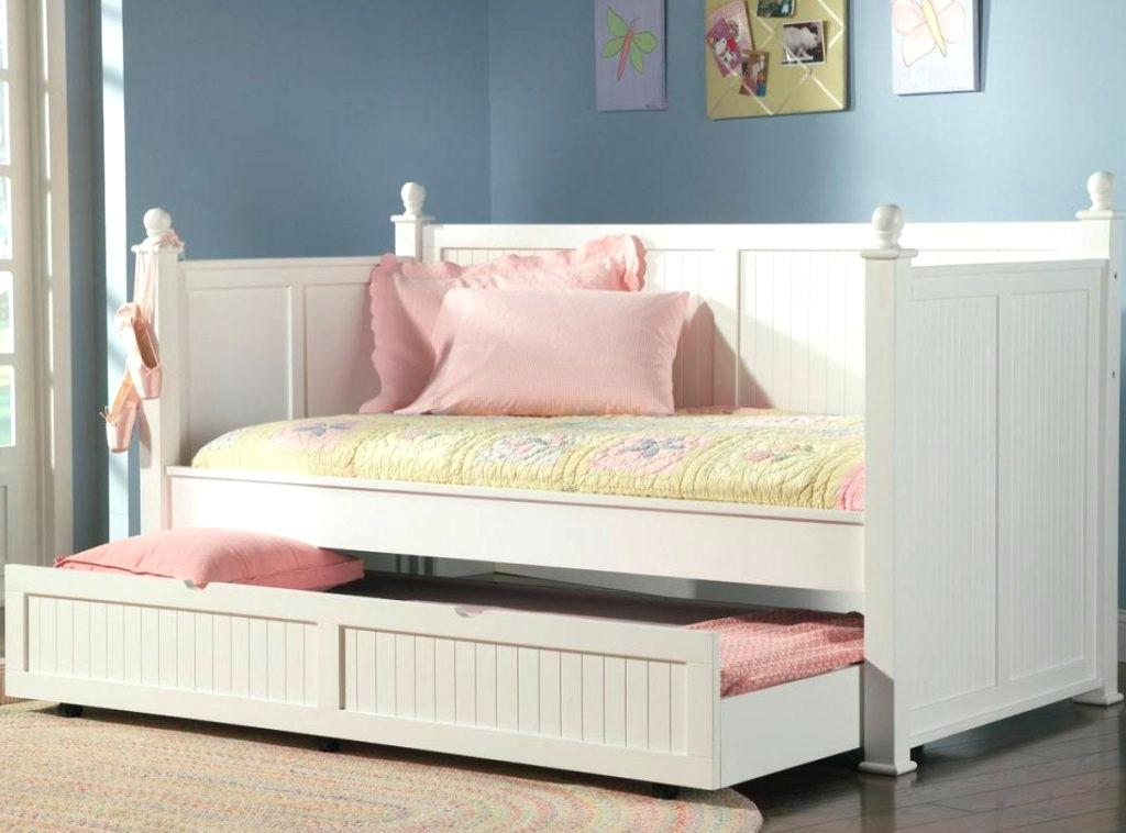 Image of: White Twin Trundle Bed with Storage