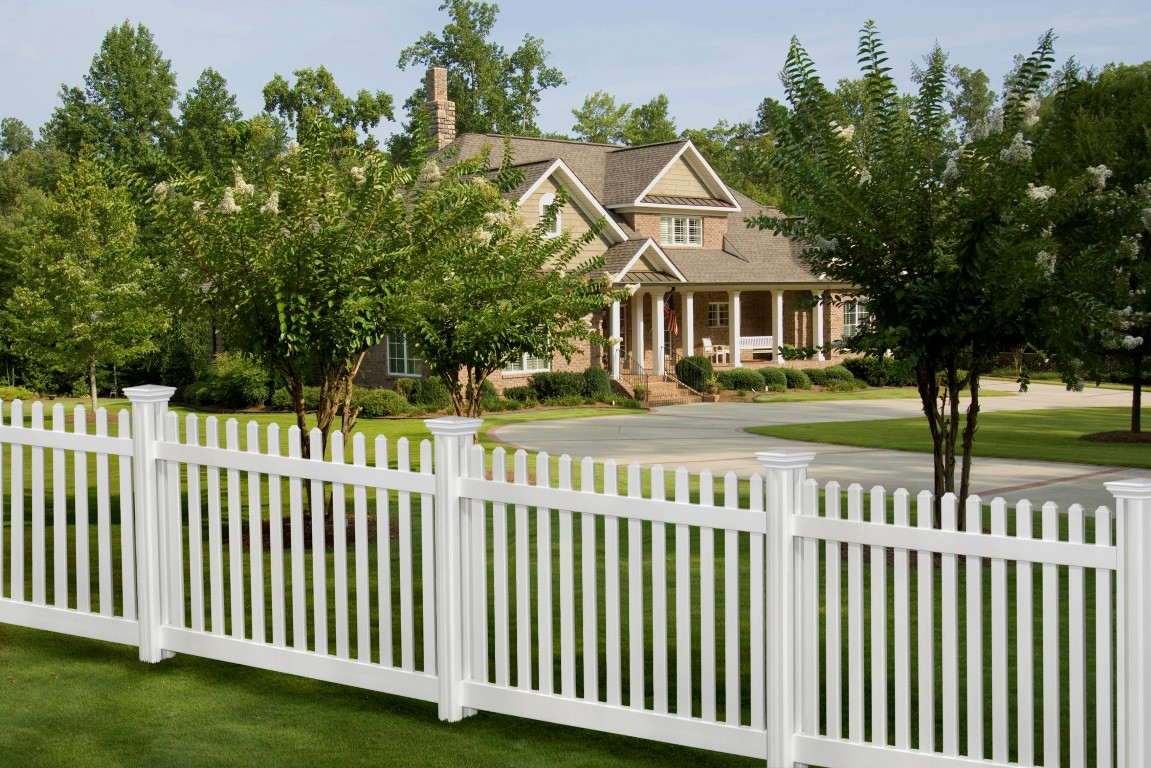 Picture of: White Wood Fence Background