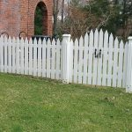 White Wood Fence Board