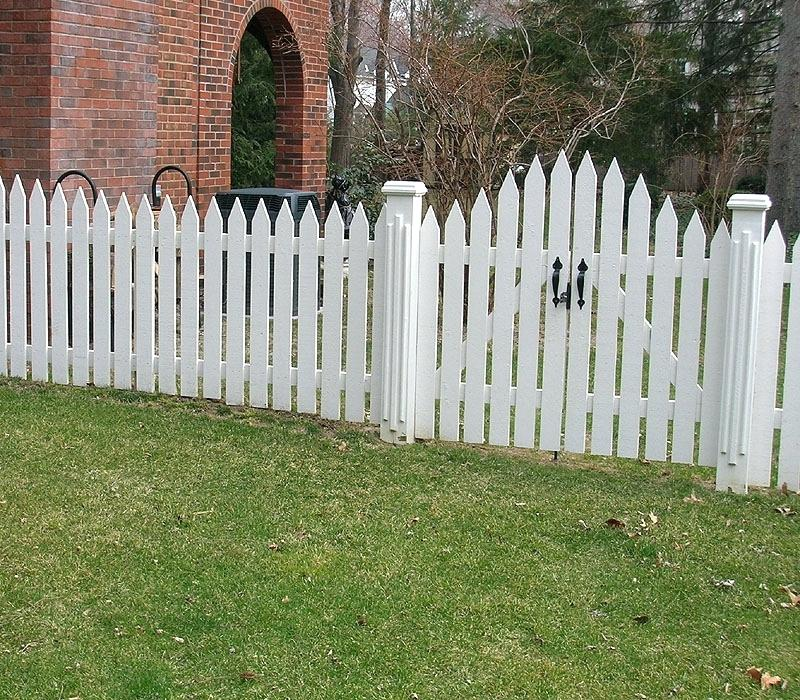 Picture of: White Wood Fence Board