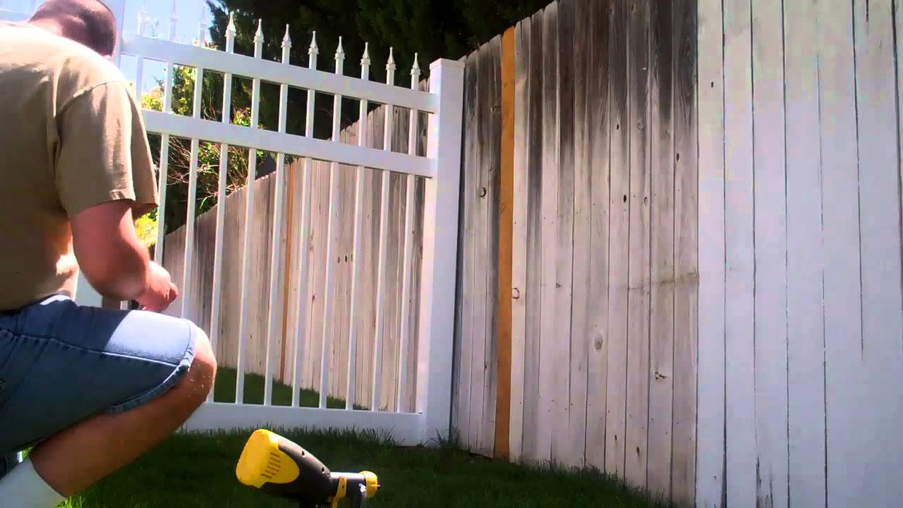 Picture of: White Wood Fence Stain