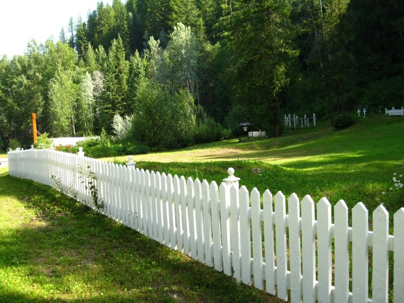 White Wood Fence For Your Environment