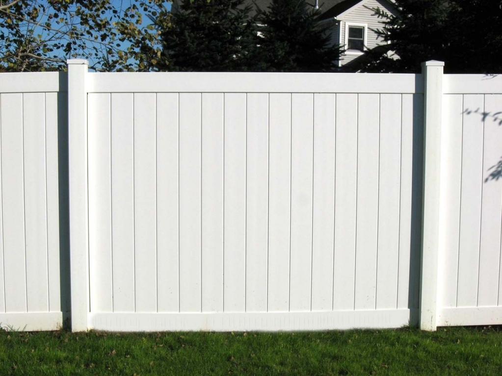 White Wood Fence Wall