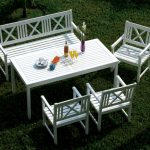 White Wooden Benches For Outside