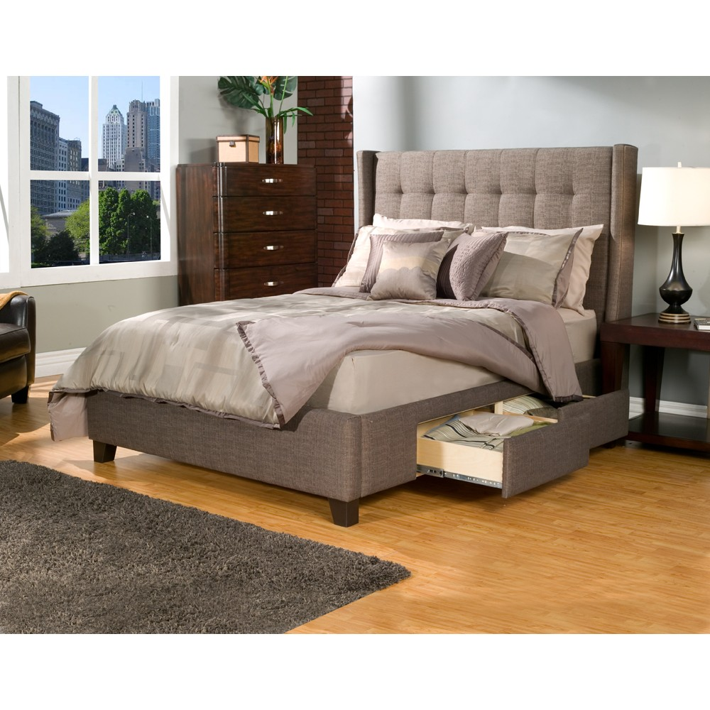 Image of: Wingback Ashley Furniture Bedroom Sets Images