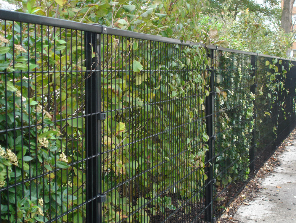Picture of: Wire Mesh Fence Panels in Black